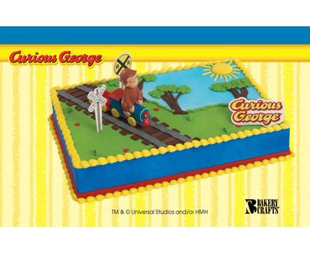Curious George Ice Cream Cake