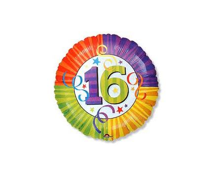 16th Birthday Mylar Balloon