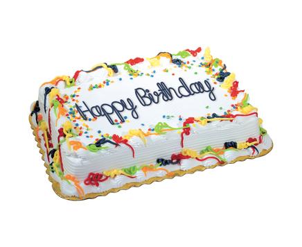 1 2 Sheet Birthday Cake