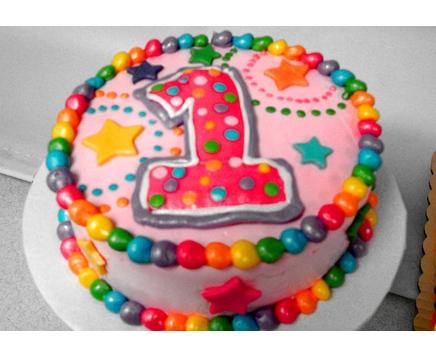 #1 with Stars smash cake
